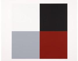 Untitled (White Red Grey Black) - David Serisier